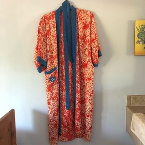 Silk bathrobe